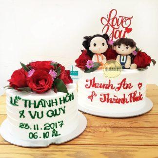 Bánh cưới cặp đôi búp bê siêu Kute