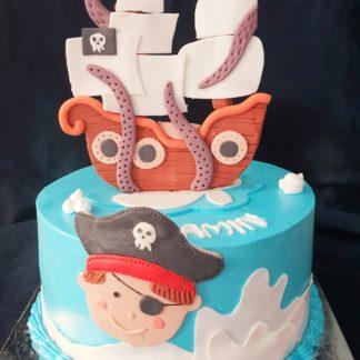 Bánh 2 tầng mẫu cướp biển cho bé