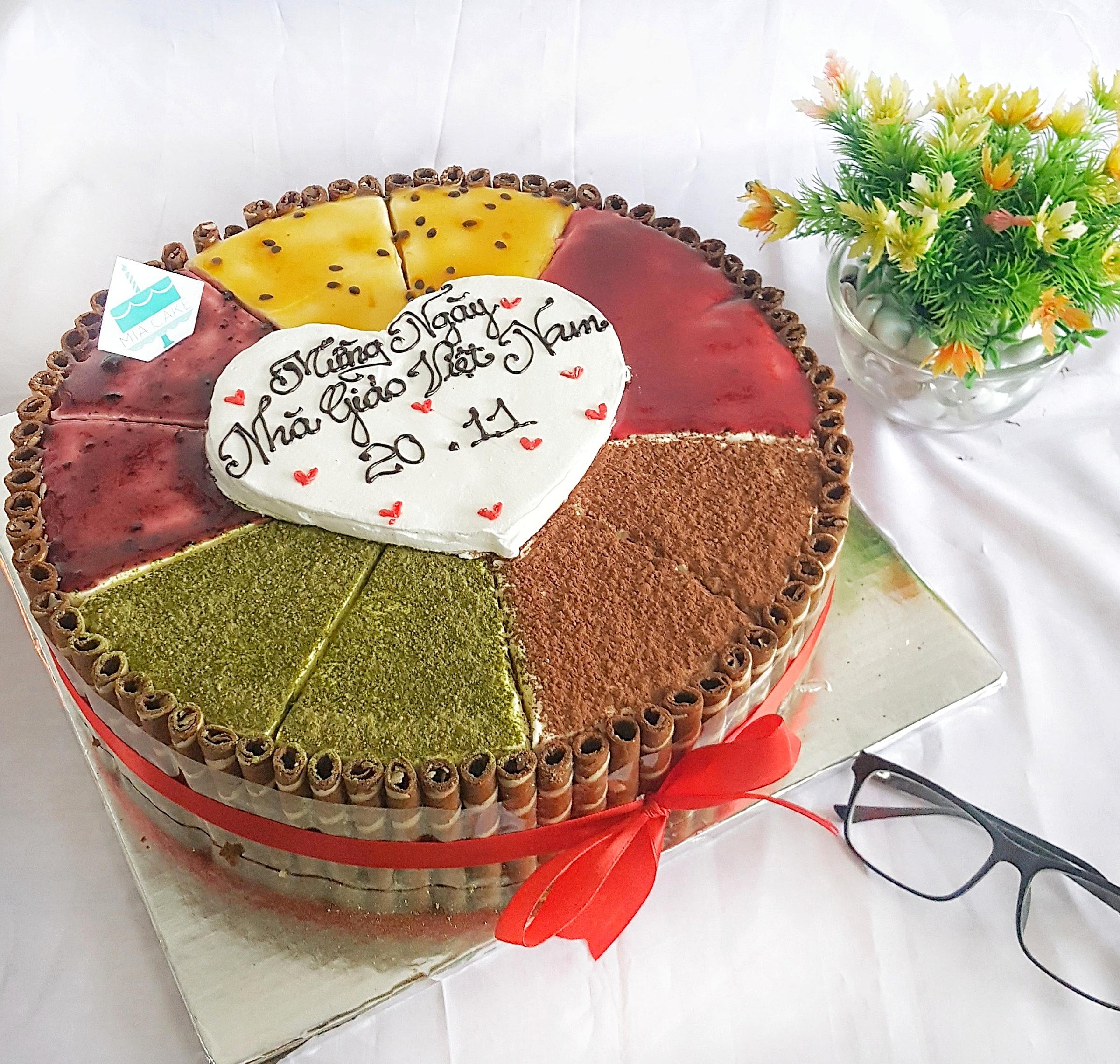 Bánh Tiramisu 5 vị viền quế - Tiệm bánh MiaCake Đà Nẵng