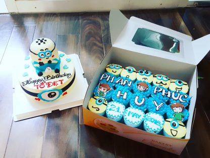 cupcake minion và bánh minion 3D