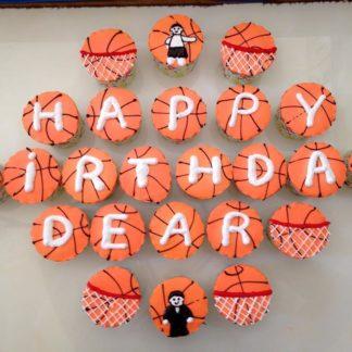 banh cupcake đội bóng rổ