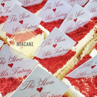 Bánh red velvet đãi tiệc - cưới hỏi