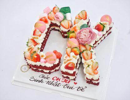bánh kem sinh nhật chữ cái - kí tự
