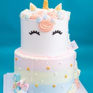 mẫu bánh kem unicorn