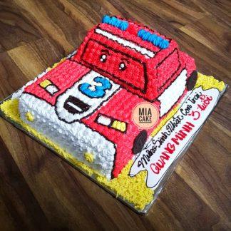 Mẫu bánh kem ô tô cảnh sát