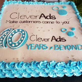 Mẫu bánh sinh nhật 10 năm CleverAds