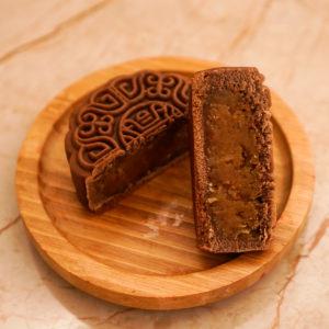 Bánh Trung Thu Vỏ Chocolate nhân Chuối Nướng Cốt Dừa