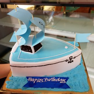 Mẫu bánh kem sinh nhật hình con thuyền Đà Nẵng